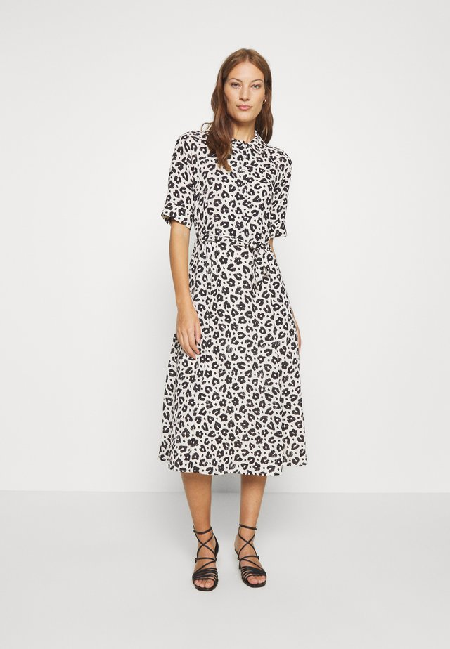 BRIZO DRESS - Shirt dress - cream white/black
