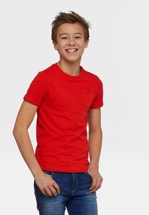 WE FASHION JONGENS T-SHIRT - T-shirt basique - red