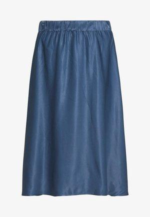 SATEEN MAX SKIRT - A-line skirt - petrol blue 2