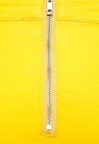 Missguided - ZIP UP SKIRT - Jeansskjørt - yellow - 2