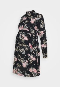 Pieces Maternity - PCMPAOLA DRESS - Shirt dress - black - 0