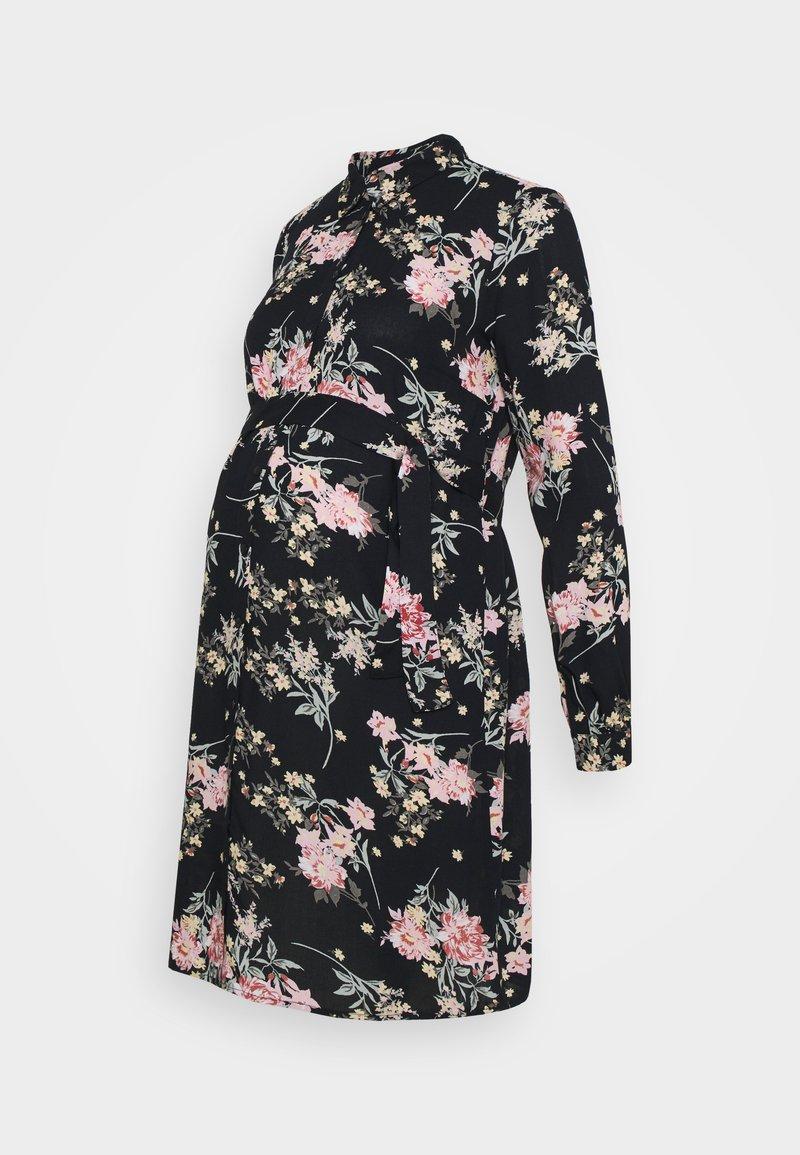 Pieces Maternity - PCMPAOLA DRESS - Shirt dress - black