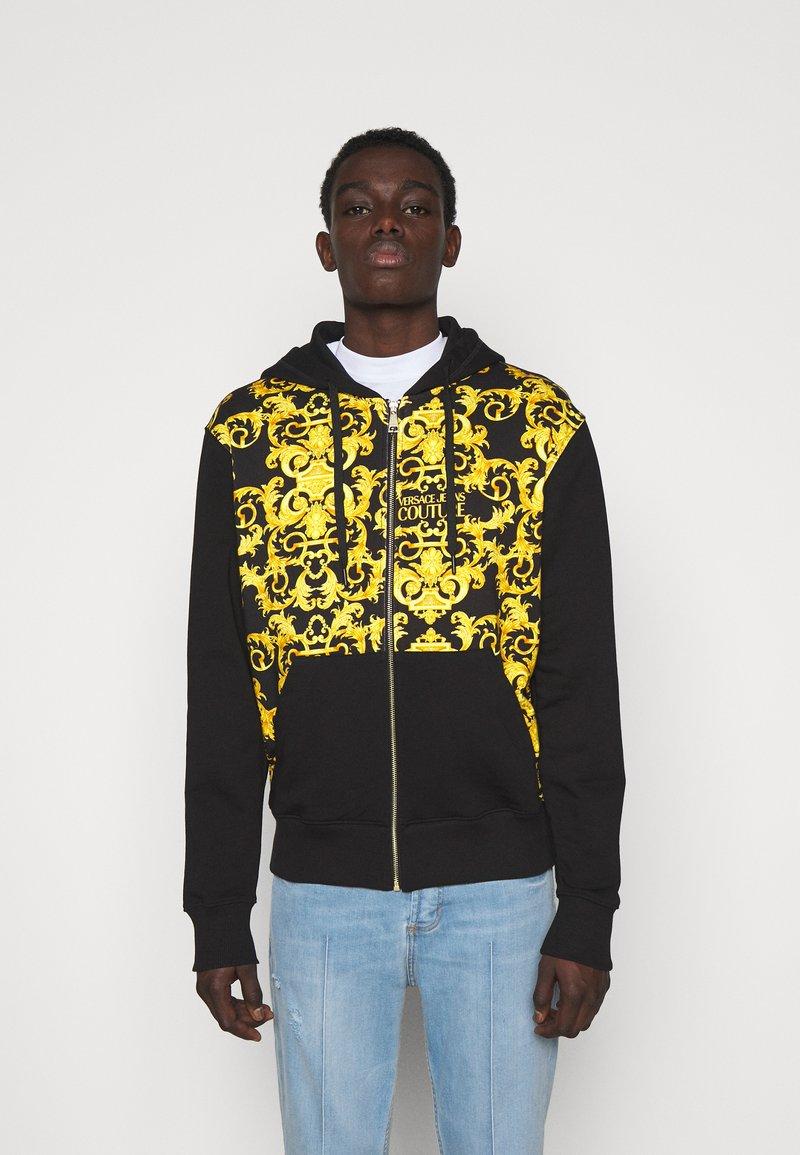 Versace Jeans Couture - PRINT LOGO BAROQUE - Zip-up sweatshirt - black
