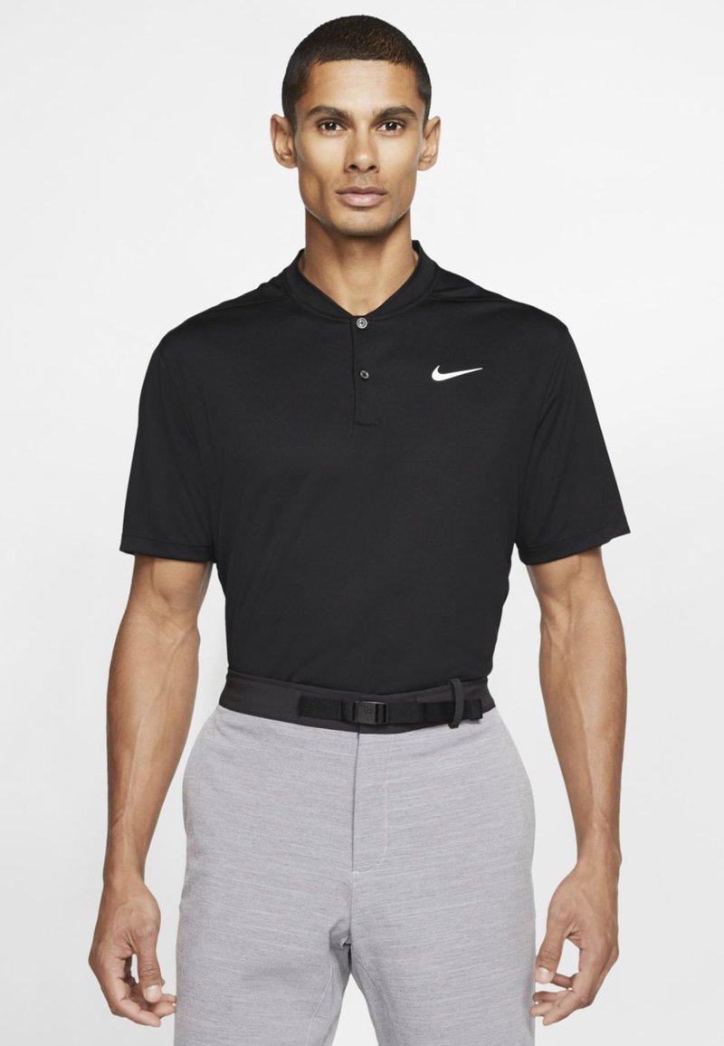 Nike Golf - DRY VICTORY - Funkční triko - black/white