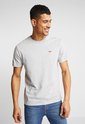 THE ORIGINAL TEE - T-shirt print - patch medium grey heather embroidery