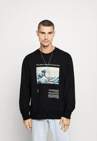 Topman - WAVE - Sweatshirt - black - 0