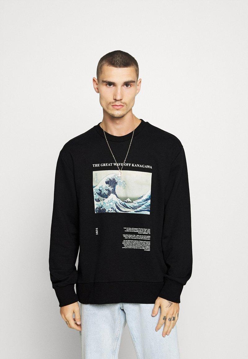 Topman - WAVE - Sweatshirt - black