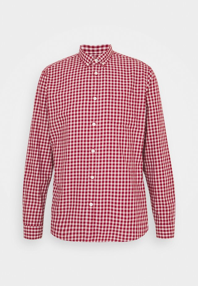 CHECK - Koszula - garnet red