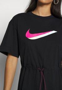 Nike Sportswear - DRESS - Jersey dress - black/white - 5