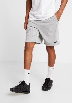 DRY SHORT - Krótkie spodenki sportowe - dark grey heather/black