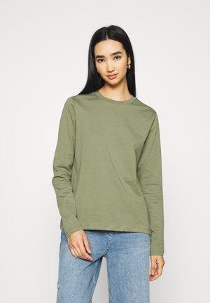 Long sleeved top - deep lichen green