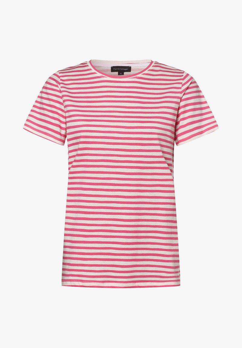 Franco Callegari - Print T-shirt - pink weiß