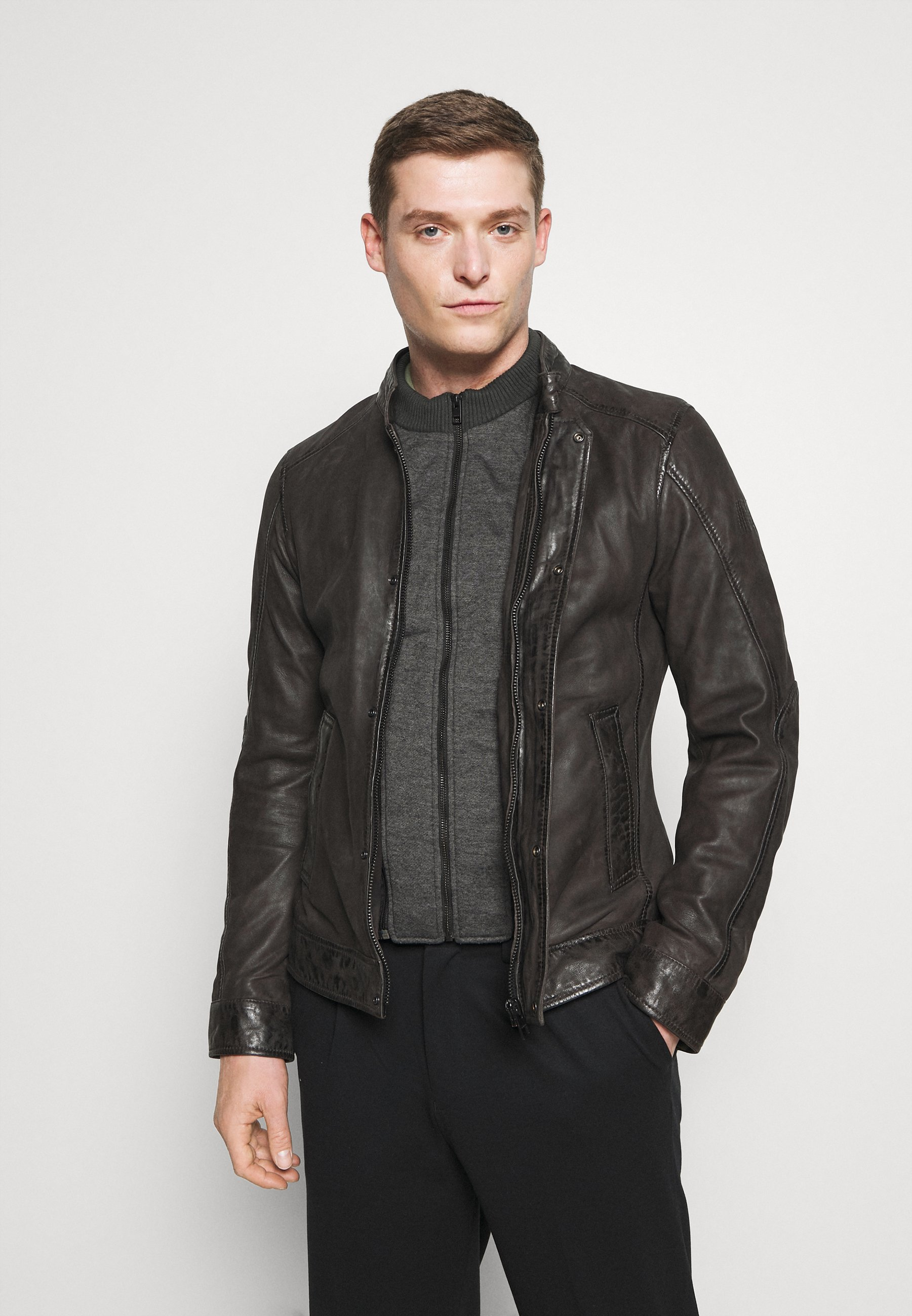 Men ALDEN - Leather jacket
