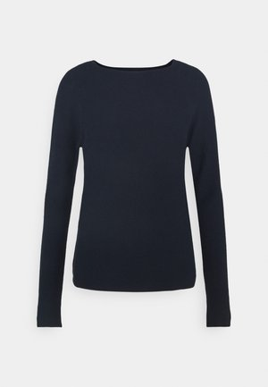 LONG SLEEVE CREW NECK - Strikkegenser - scandinavian blue