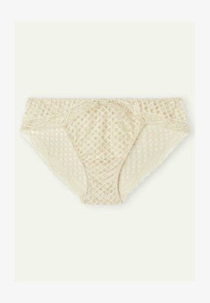 SLIP CRAFTED LACE - Pants - rope beige