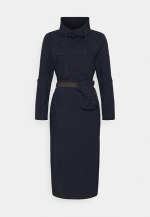 ANORAK TUNIC - Maxi dress - rinsed denim