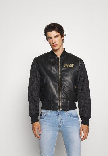 MAN JACKET - Leather jacket - nero
