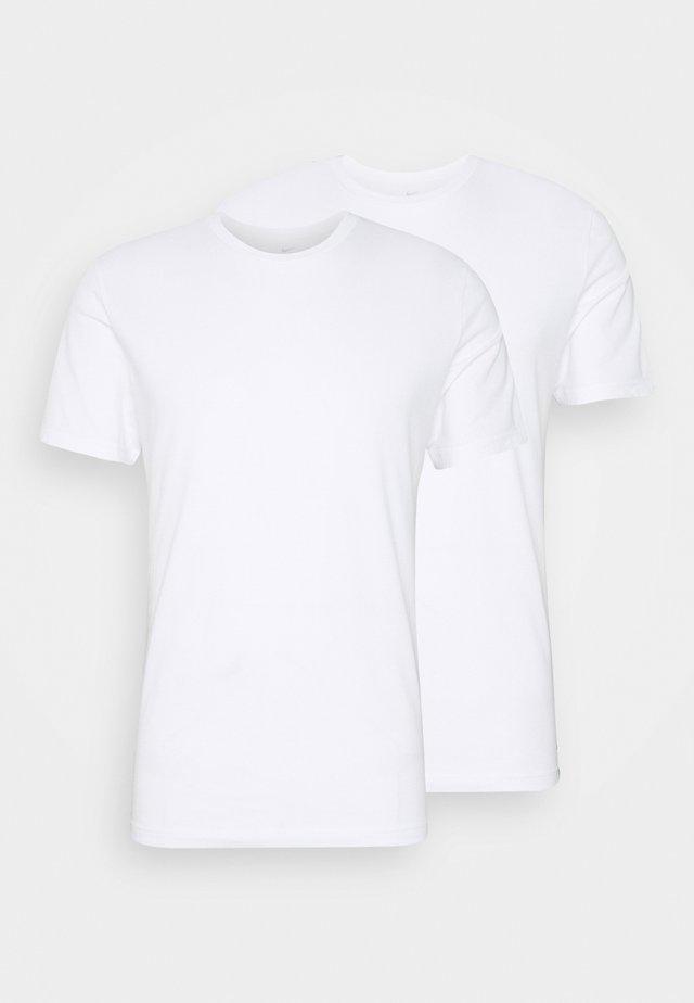 CREW NECK 2 PACK - Hemd - white