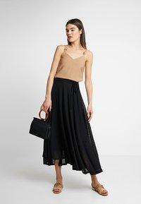 Esprit - SKIRT - Maxi skirt - black - 1