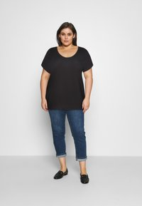 Pieces Curve - PCBILLO TEE SOLID - Basic T-shirt - black - 1
