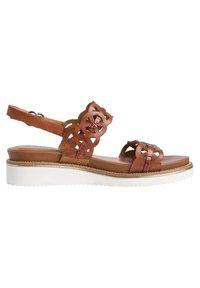 Tamaris - Wedge sandals - cognac/croco - 5