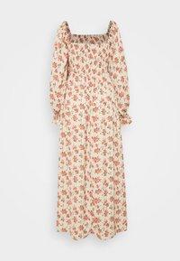 Missguided - FLORAL FRILL CUFF SHIRRED DRESS - Maxi dress - nude - 1