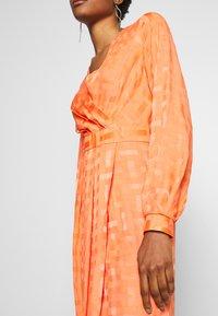 Closet - PLEATED WRAP DRESS - Day dress - orange - 6