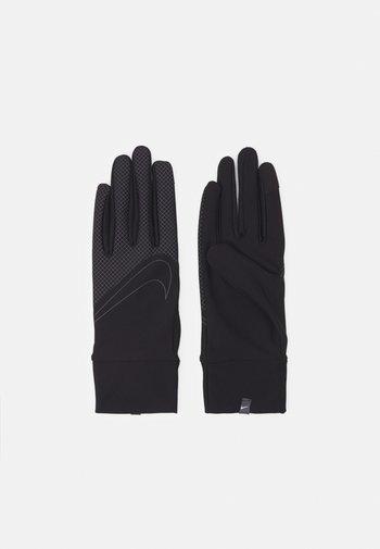360 MEN'S LIGHTWEIGHT TECH RUNNING GLOVES - Gloves - black/black/silver