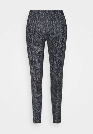 HIGH RISE LEGGING - Medias - black/grey