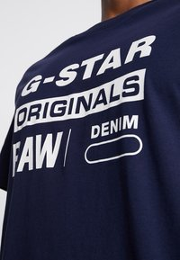 G-Star - GRAPHIC LOGO 8 T-SHIRT - T-shirt print - sartho blue - 4