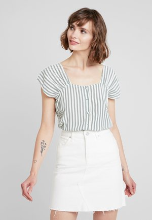 YASSTAPLE - Bluse - star white/green