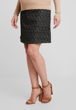 JULIE - A-line skirt - black/gold