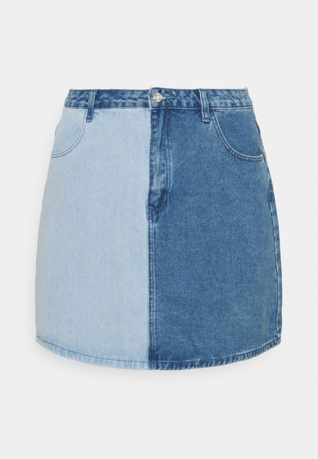 SPLICED SKIRT - Minijupe - blue