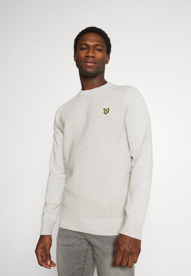 RAGLAN TEXTURE JUMPER - Sweter - light grey marl