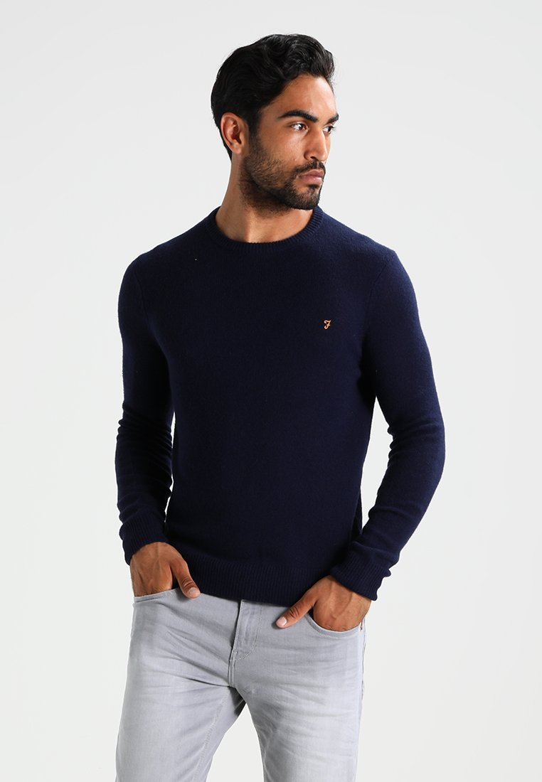 Farah - THE ROSECROFT CREW NECK  - Stickad tröja - true navy