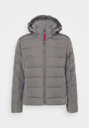 MAN JACKET ZIP HOOD - Winterjacke - dust