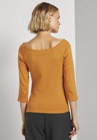 TOM TAILOR DENIM - CARMEN - Long sleeved top - orange yellow - 2