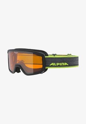Goggles - black-neon-yellow matt