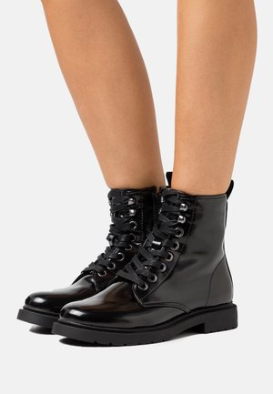 WIDE FIT TULIP - Bottines à lacets - black