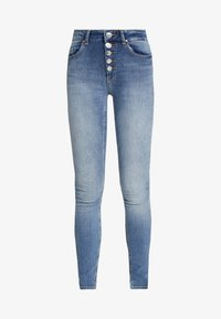 ONLY - ONLBLUSH BUTTON - Jeans Skinny Fit - medium blue - 4