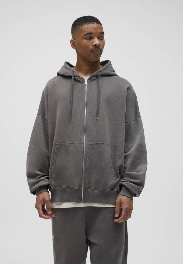 PULL&BEAR Bluza rozpinana - grey/szary Odzież Męska IVOM