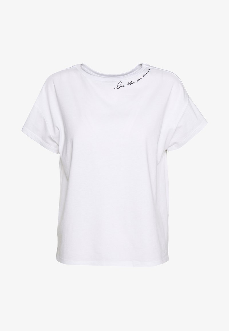 Opus - STICKY MOMENT - Print T-shirt - white
