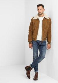 Schott - OFFICIER - Leather jacket - rust - 1