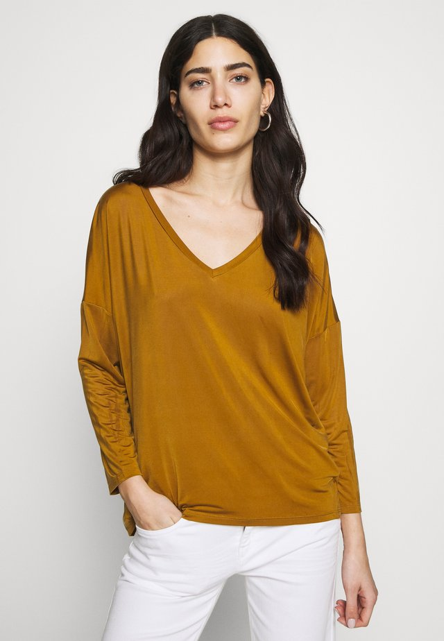VENJA - Maglietta a manica lunga - mustard