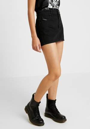 DE-EISY SKIRT - Denim skirt - black