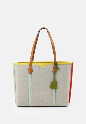 PERRY TRIPLE COMPARTMENT TOTE - Tote bag - natural/tory navy