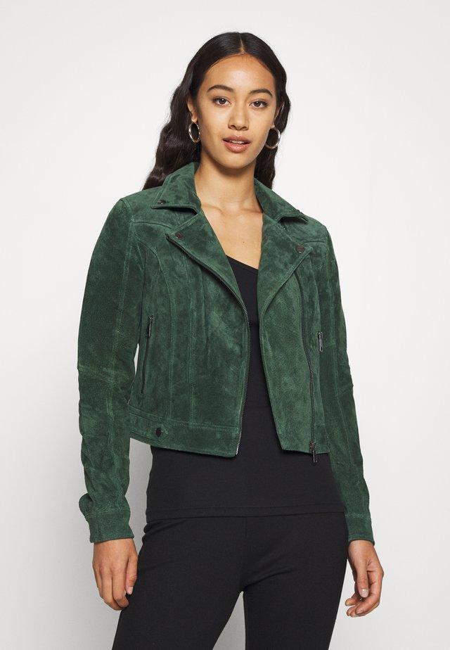 VMROYCESALON JACKET - Leather jacket - khaki