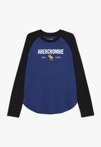 Abercrombie & Fitch - RAGLAN - Långärmad tröja - cobalt/black - 0