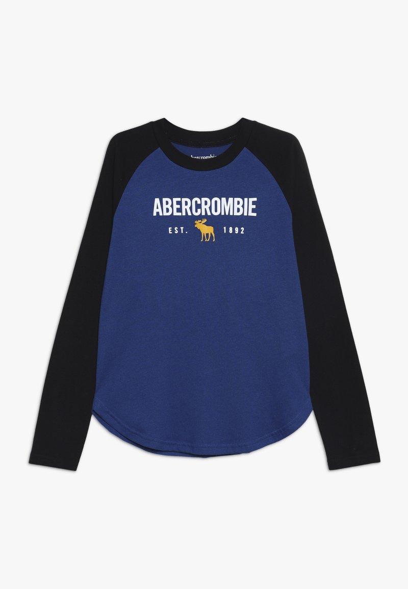 Abercrombie & Fitch - RAGLAN - Långärmad tröja - cobalt/black