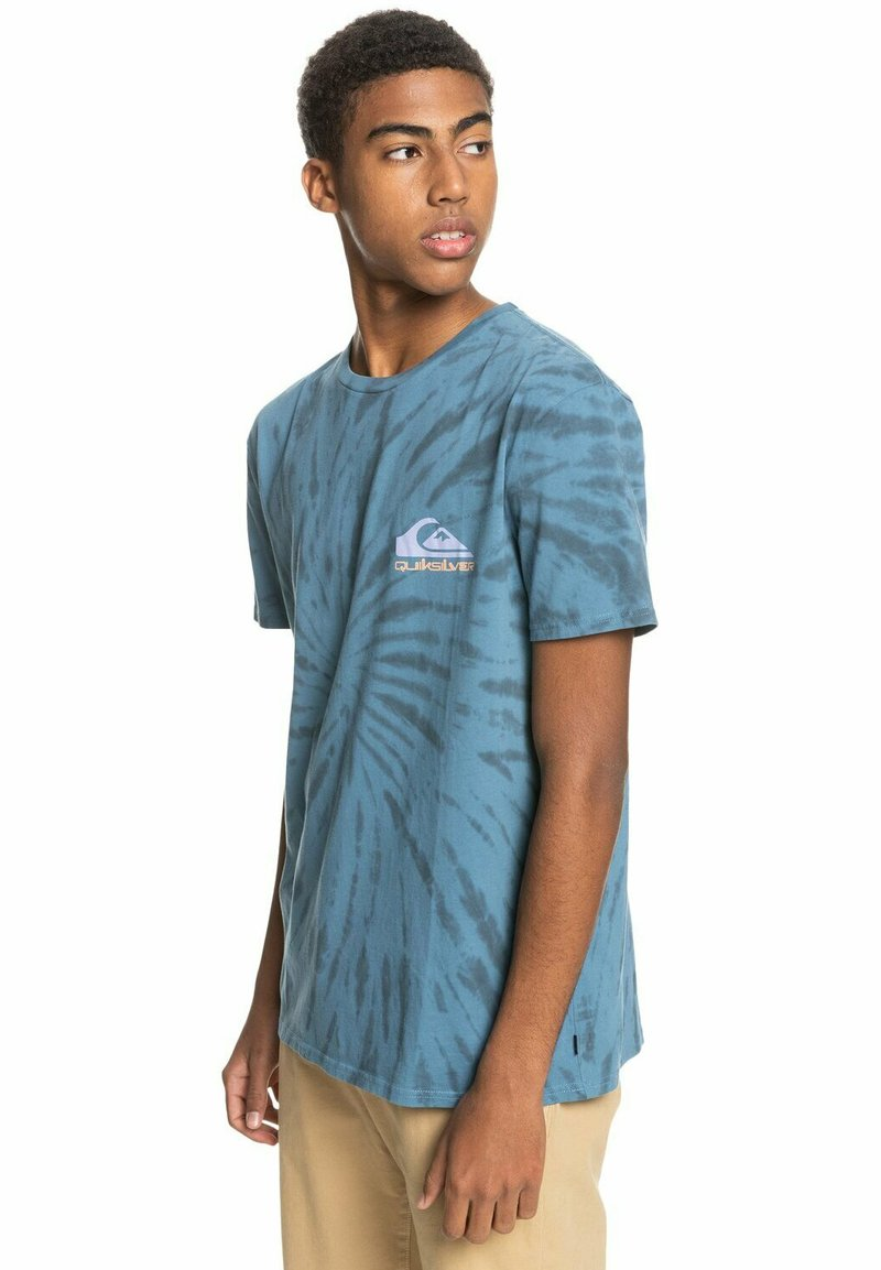 Quiksilver - SLOW LIGHT - Print T-shirt - captains blue